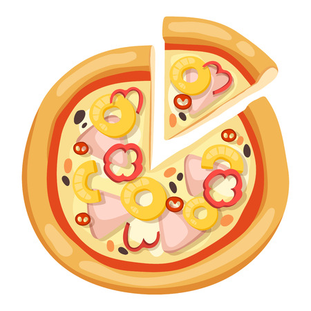 pizza slice: Pizza flat icons isolated on white background. Pizza food silhouette. Pizza piece, pizza slice. Pizza menu illustration isolated. Pizza vector collection isolated on white. Different pizza Illustration