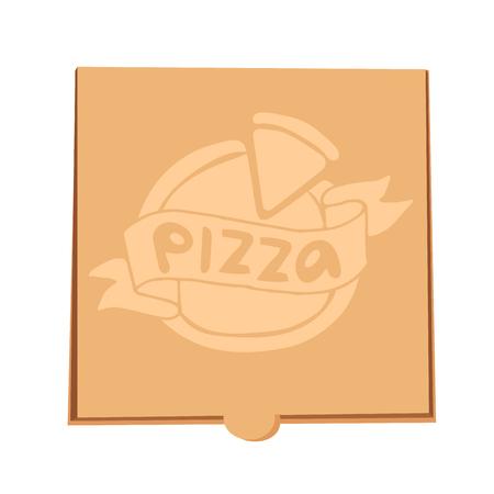 pizza box: Pizza box vector illustration. Pizza box delivery service. Craft pizza box isolated on background. Box for pizza, pizza box. Pizza delivery business, food box, pizza box. Delivery pizza package