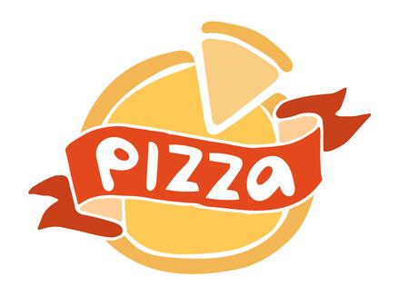 pizza: Pizza icono plana plantilla de logotipo. Pizza silueta alimentos. Pizza pieza logotipo, logotipo de la rebanada de pizza. Aislado menú de pizza ilustración. Pizza vector logo icono. Pizza vector logo logotipo. Logotipo del servicio de pizza