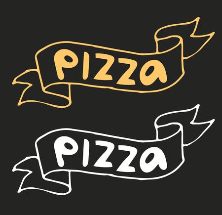 pizza slice: Pizza flat icon logo template. Pizza food silhouette. Pizza piece logo, pizza slice logo. Pizza menu illustration isolated. Pizza vector logo icon. Pizza logo vector logotype. Pizza service logo Illustration