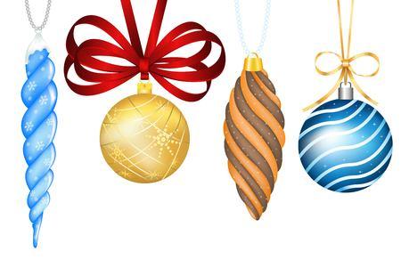 ビンテージ クリスマス ボールのおもちゃです。カラフルな新年ツリー装飾おもちゃが分離されました。クリスマス ツリーの玩具・ クリスマス ボー