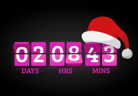 new year counter: Christmas clock timer digits board panels. Website New Year timer counter. Christmas soon. New year, Christmas website timer.