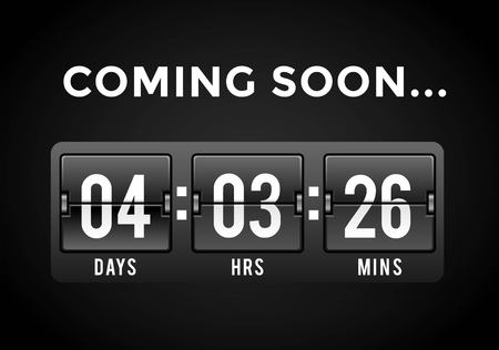 Countdown clock digits board panels timer. Website timer counter. Sale opening soon. New year, Christmas timer sale. Stok Fotoğraf - 48683375