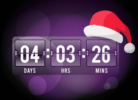 new year counter: Christmas clock timer digits board panels. Website New Year timer counter. Christmas soon. New year, Christmas website timer. Vector timer. Vector website Christmas start timer. New Year time