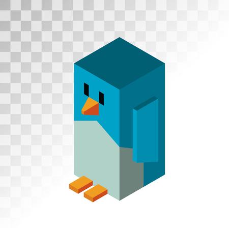 pinguino caricatura: Ping�ino 3d iconos ilustraci�n vectorial. Aislado de dibujos animados icono divertido ping�inos 3d. Ping�ino del vector, del ayudante de Santa Navidad, Navidad del ping�ino. Ping�ino de la historieta icono ilustraci�n vectorial vew isom�trica. Ping�ino vectorial