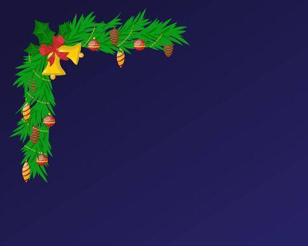 christmas winter: Christmas greeting card illustration. Christmas greeting card vector. New Year greeting card template. Christmas greeting card vector illustration. New Year invintation design. Christmas decoration, balls, tree Illustration