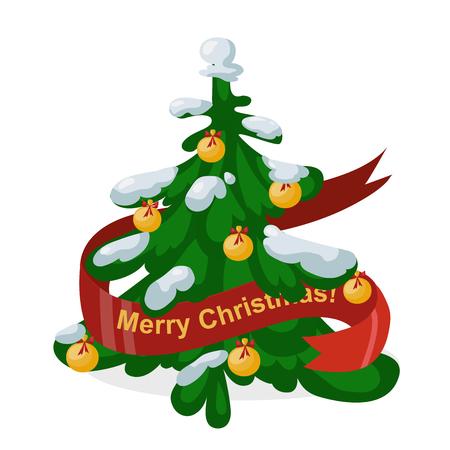 christmass tree: Christmas tree flat design vactor icon isolated on white. Christmas tree vector. New Year tree isolated. Christmas tree vector illustration. New Year tree silhouette. Christmas decoration, balls, tree, green tree