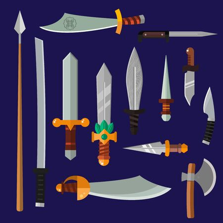 weapon: Knifes weapon collection.  Stock Photo