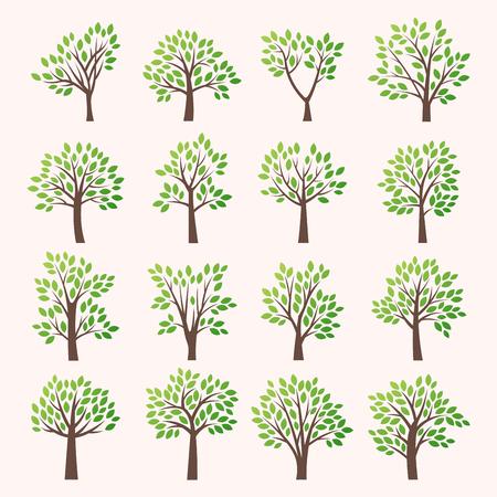 Estilizada colección del árbol del vector. Foto de archivo - 49148514