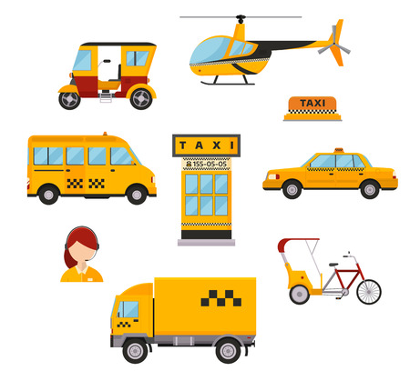 taxi: Different types of taxi transport.