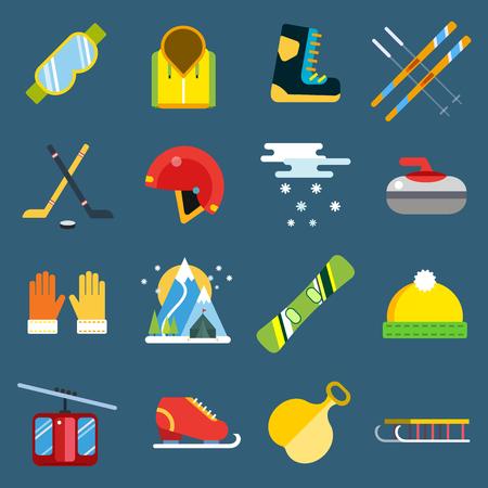 winter sport: Winter sport vector icons set.  Illustration