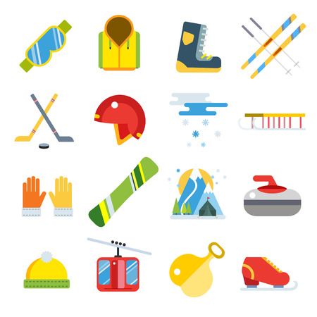 winter sport: Winter sport vector icons set.