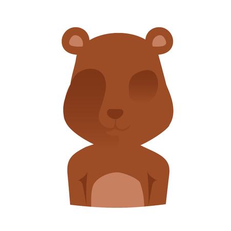 oso: Cerveza silueta de la cara Ilustración.