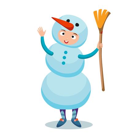Snowman vector icon flat avatar.