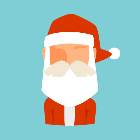 santa claus face: Santa Claus flat icon vector illustration.