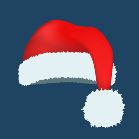 red hat: Santa Claus red hat silhouette.