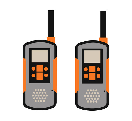 simplex: Portable radio transmitter on a white background vector illustration.  Illustration