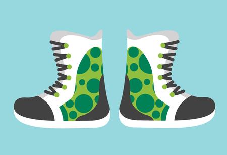 sport clothes: Snowboard sport clothes boots elements.