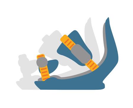 snowboard: Snowboard sport  anchors boots elements.  Illustration