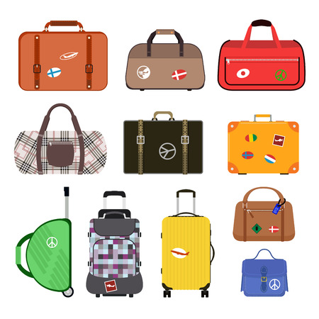luggage airport: Travel bags vector illustration.