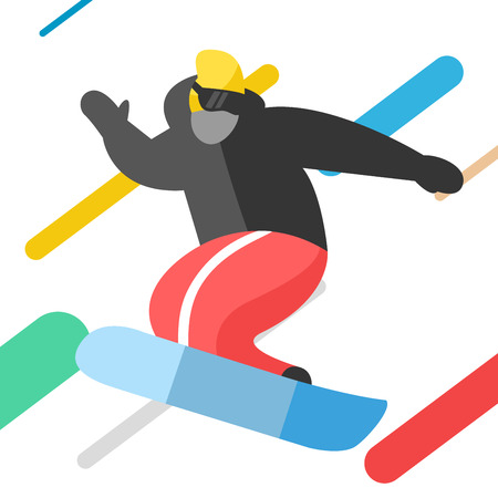 snowboarder jumping: Snowboarder jumping pose isolated on background. Snowboard people tricks. Snowboarder tricks. Special snowboard tricks isolated silhouette. Snowboard tricks illustration. Snowboarder jumping Illustration