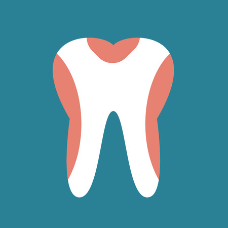 periodontal disease: Periodontal disease tooth icon vector illustration. Dental tooth problems vector concept. Toothache, tooth dead, bad tooth care. Doctors dentists professional illustration. Medical dental tooth icon