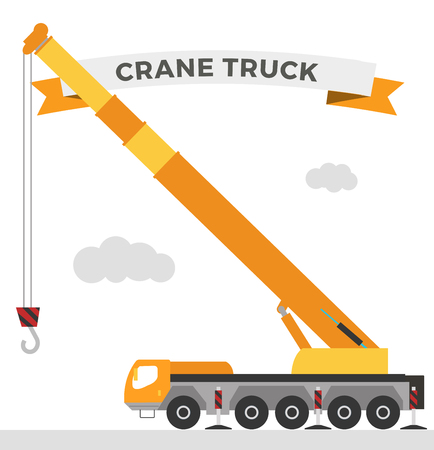 construction crane: Building under construction crane machine technics vector illustration. Building crane machine  truck vector. Under construction vector concept. Crane machine vector isolated