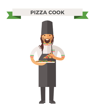 chef cartoon: Vector cooking chef vector illustration. Cartoon cook chef icon. Restaurant cook chefs hat and cook uniform. Vector cooks, cooks uniform, cooks chefs, chefs isolated, cook people. Professions job Illustration