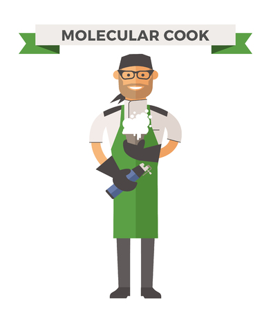 chefs cooking: Vector cooking chef vector illustration. Cartoon cook chef icon. Restaurant cook chefs hat and cook uniform. Vector cooks, cooks uniform, cooks chefs, chefs isolated, cook people. Professions job Illustration