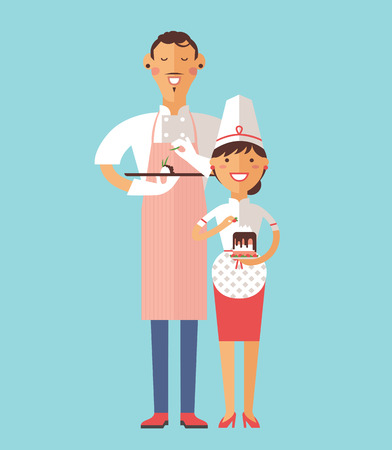 italian chef: Vector cooking chef vector illustration. Cartoon cook chef icon. Restaurant cook chefs hat and cook uniform. Vector cooks, cooks uniform, cooks chefs, chefs isolated, cook people. Professions job Illustration