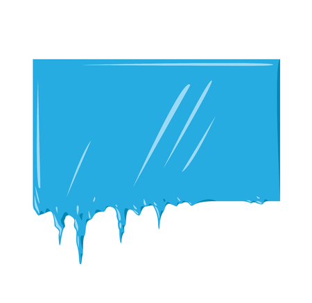 icicle: Collection of frozen icicle snow winter vector banner. Icicle vector snow banners, snow ribbon, snow label, icicle emblem. Winter New Year sale, Christmas sale banners. Vector banners isolated icon