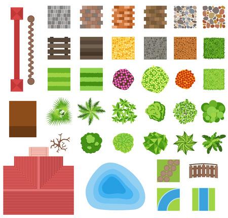 paisajismo elementos de diseño de jardines. plantas ornamentales