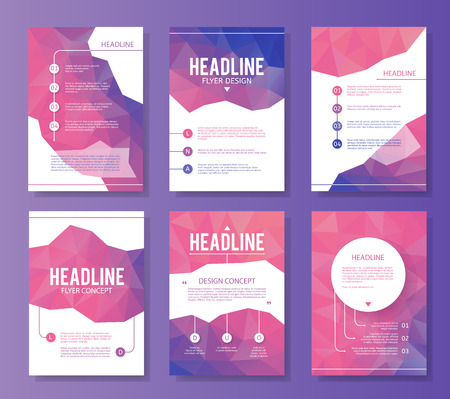 business abstract: Abstract brochure or flyer design template. Book design, blank, print design, journal. Brochure vector. Brochure template. Flyer design. Flyer template. Brochure abstract design. Brochure background Illustration