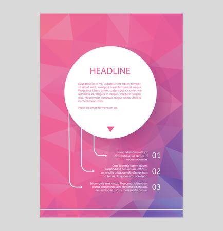 polygraph: Abstract brochure or flyer design template. Book design, blank, print design, journal. Brochure vector. Brochure template. Flyer design. Flyer template. Brochure abstract design. Brochure background Illustration
