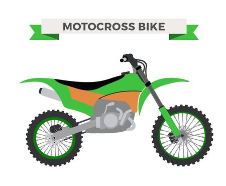 Vettoriale moto illustrazione. Moto isolato su sfondo bianco. moto da cross, moto sportiva vettore. illustrazione moto moto moto. Bike vettore isolato
