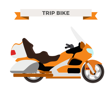 moto: Vector motorcycle illustration. Motorcycle isolated on white background. Cross bike, sport bike vector. Motorcycle moto bike illustration. Bike isolated vector Illustration