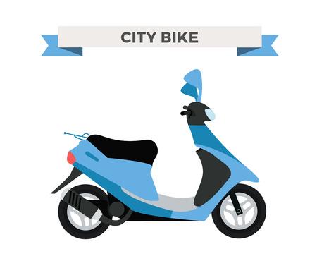 motorsports: Vector motorcycle illustration. Motorcycle isolated on white background. Cross bike, sport bike vector. Motorcycle moto bike illustration. Bike isolated vector Illustration