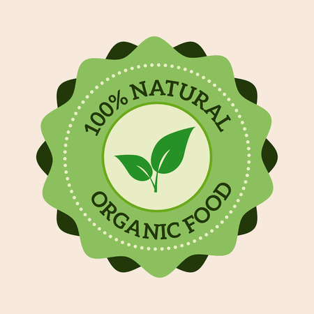 vintage badge: Natural eco organic product label badge vector icon. Badge eco emblem logo. Eco product label badge design elements. Badge natural food icon isolated. Farm product healthy food logo badge design Illustration