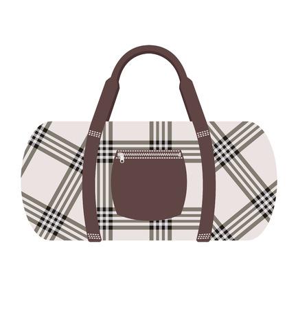 travel bag: Fashion modern travel bag vector illustration. Travel bag isolated on background. Travel bag symbol. Travel bag. Travel bag for traveling. Travel bag vector. Summer time, vacation, travel
