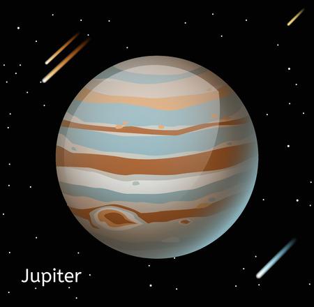 jupiter: Jupiter planet 3d vector illustration. Globe Jupiter texture map. Globe vector Jupiter view from space. Jupiter illustration. Geography world vector Jupiter. Globe silhouette, world map, 3d Jupiter Illustration