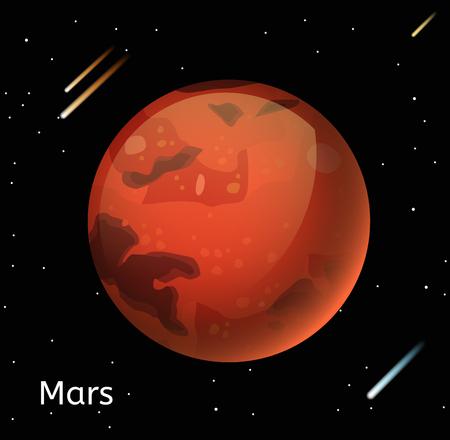 planetarium: Mars planet 3d vector illustration. Globe Mars texture map. Globe vector Mars view from space. Mars illustration. Vector Mars planet. Mars planet silhouette, world map, 3d Mars