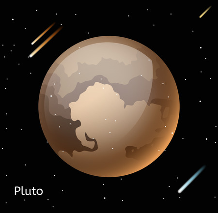 pluto: Pluto planet 3d vector illustration. Globe Pluto texture map. Globe vector Pluto view from space. Pluto illustration. Vector Pluto planet. Pluto planet silhouette, world map, 3d Pluto Illustration