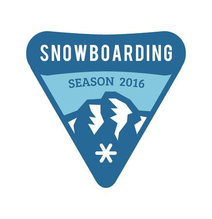 Ski resort logo emblems, labels badges vector elements. Extreme ski, snowboarding resort club badges set. Winter games, outdoors adventure ski snowboard logo badge vintage style. Ski resort logo icons