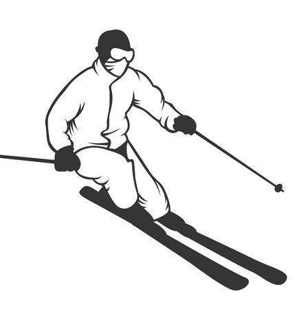 ski resort: Ski resort emblems, labels badges vector elements. Extreme ski, snowboarding resort club badges set.  Illustration