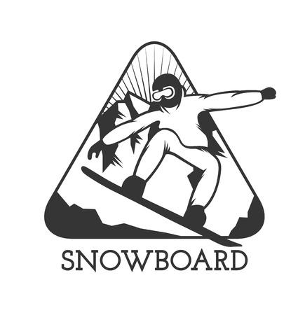 ski resort: Ski resort  emblems, labels badges vector elements. Extreme ski, snowboarding resort club badges set.