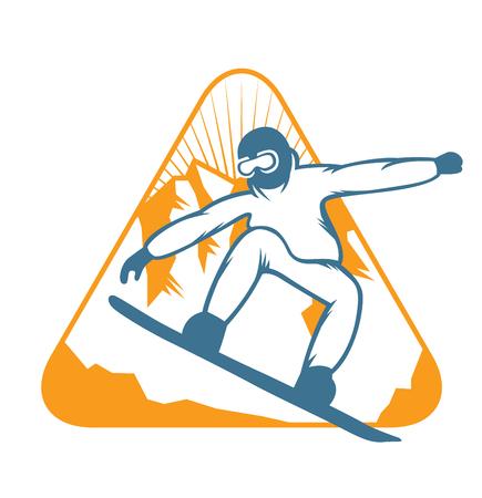 resort: Ski resort  emblems, labels badges vector elements. Extreme ski, snowboarding resort club badges set.