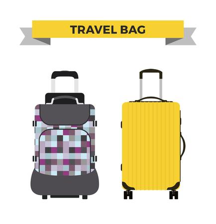 travel bag: Travel bag vector illustration. Travel bag isolated on background. Travel bag symbol. Travel bag. Travel bag for traveling. Travel bag vector. Summer time, vacation, travel