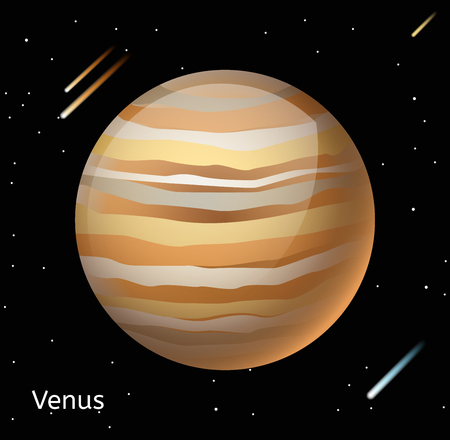 venus: Venus planet 3d vector illustration. Globe Venus texture map. Globe vector Venus view from space. Venus illustration. Vector Venus planet. Venus planet silhouette, world map, 3d Venus