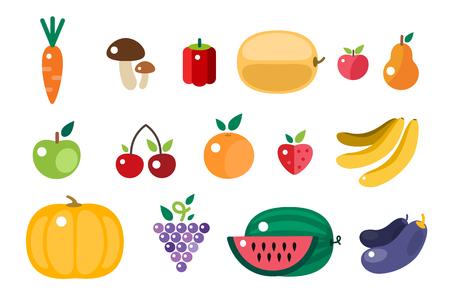 harvesting: Harvest food icons objects. Harvest fruits and vegetables. Harvest basket and harvest isolated objects. Harvesting. Harvest background. Harvest  autumn season. Harvest objects isolated