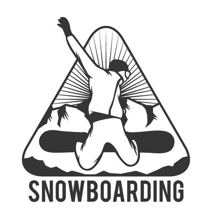 Ski resort logo emblems, labels badges vector elements. Extreme ski, snowboarding resort club badges set. Winter games, outdoors adventure ski snowboard logo badge vintage style. Ski resort logo icons Stock Vector - 50426898